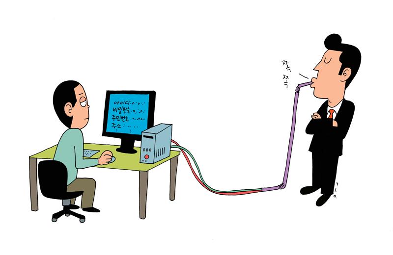 3장 개인정보보호에 관한 삽화